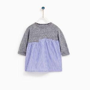 Zara Baby Girl Contrast Striped Dress